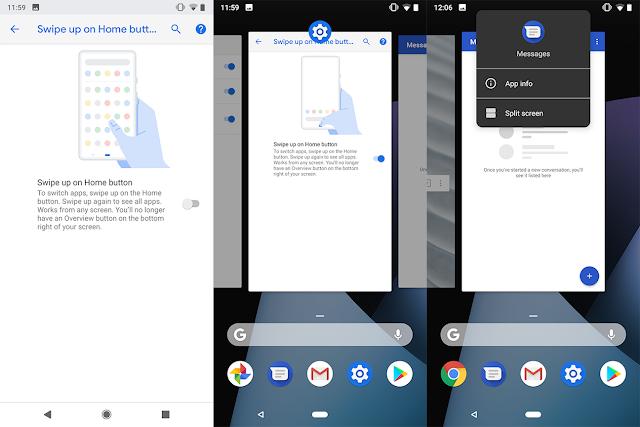 Cara Mengubah Recent App Android Pie menjadi seperti Android Oreo