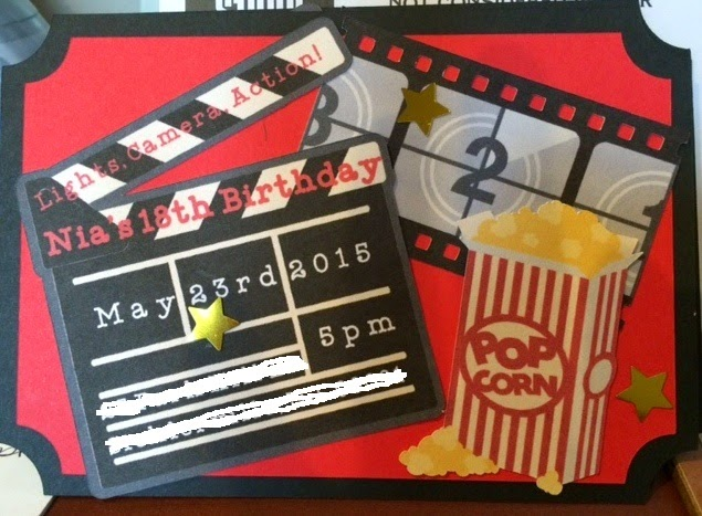 Movie Themed Birthday Party Invitation And Concession Banner