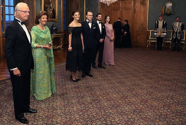 Crown Princess Victoria wore By Malina Othelia Dress, Princess Sofia wore Stylein Ixoy Dress. Queen Silvia