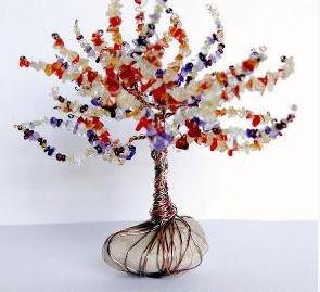 Boncuklardan Ağaç Yapımı