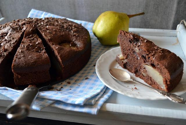 ciasto+z+gruszkami Murzynek z gruszkami