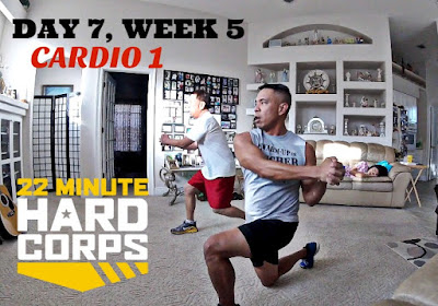 Day 7 Week Five 22 Minute Hard Corps, 22 minute Hard Corps Cardio 1, Free Beachbody Coaching, Free Beachbody Coach