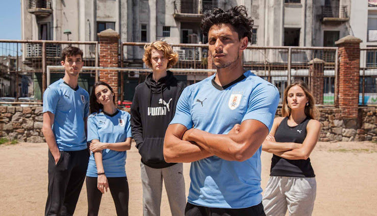 c7bd67b15 The Puma Uruguay 2018 World Cup kit has been officially released this week.  It introduces a clean design with bespoke elements .