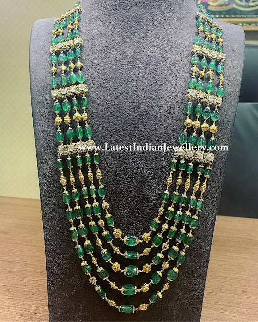 5 Stringed Emerald Mala