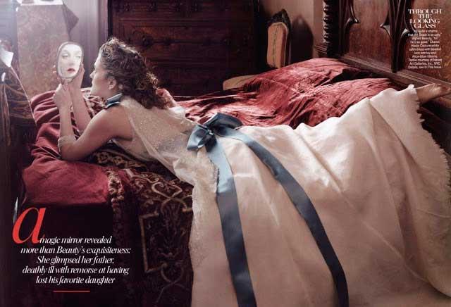 Drew Barrymore em A bela e a Fera moda