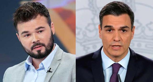 Respuesta viral de Rufián a Sánchez sobre su ultimátum al Gobierno de Venezuela