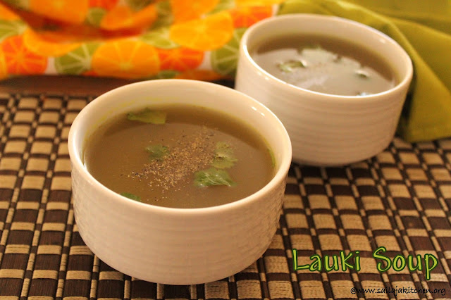 images of Lauki Soup Recipe / Bottle Gourd Soup / Dudhi Soup Recipe / Sorakkai soup - Indian Soup Recipes