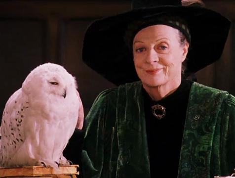 Minerva McGonagall (Maggie Smith) en Harry Potter y la piedra filosofal - Cine de Escritor
