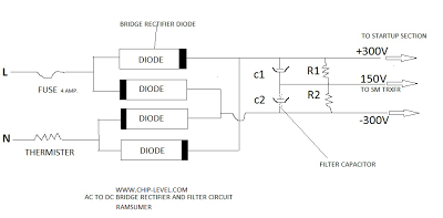 AC TO DC RECTIFIER AND FILTER CIRCUIT Layout,Smps Power Circuit Repairing in hindi