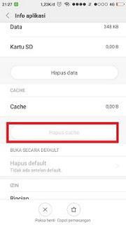 menghapus cache pada aplikasi