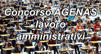 Concorso impiegati amministrativi AGENAS