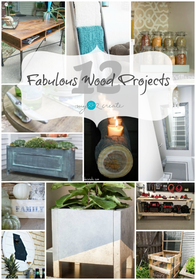 12 Fabulous Wood Projects, The DIY Housewives, MyLove2Create