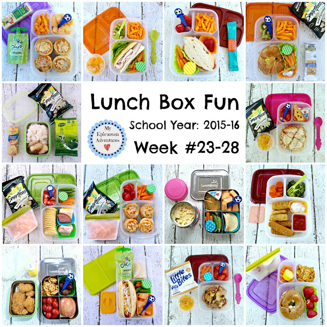 My Epicurean Adventures: Lunch Box Fun 2015-16: Weeks #23-28. Lunch box ideas, school lunch ideas, lunches