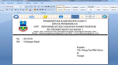 Aplikasi Kop Amplop Surat Cetak Otomatis