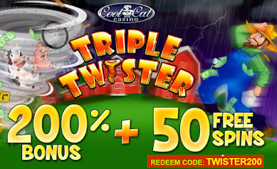 Cool Cat Casino | 200% No Rules Match and 50 Free Spins Bonus