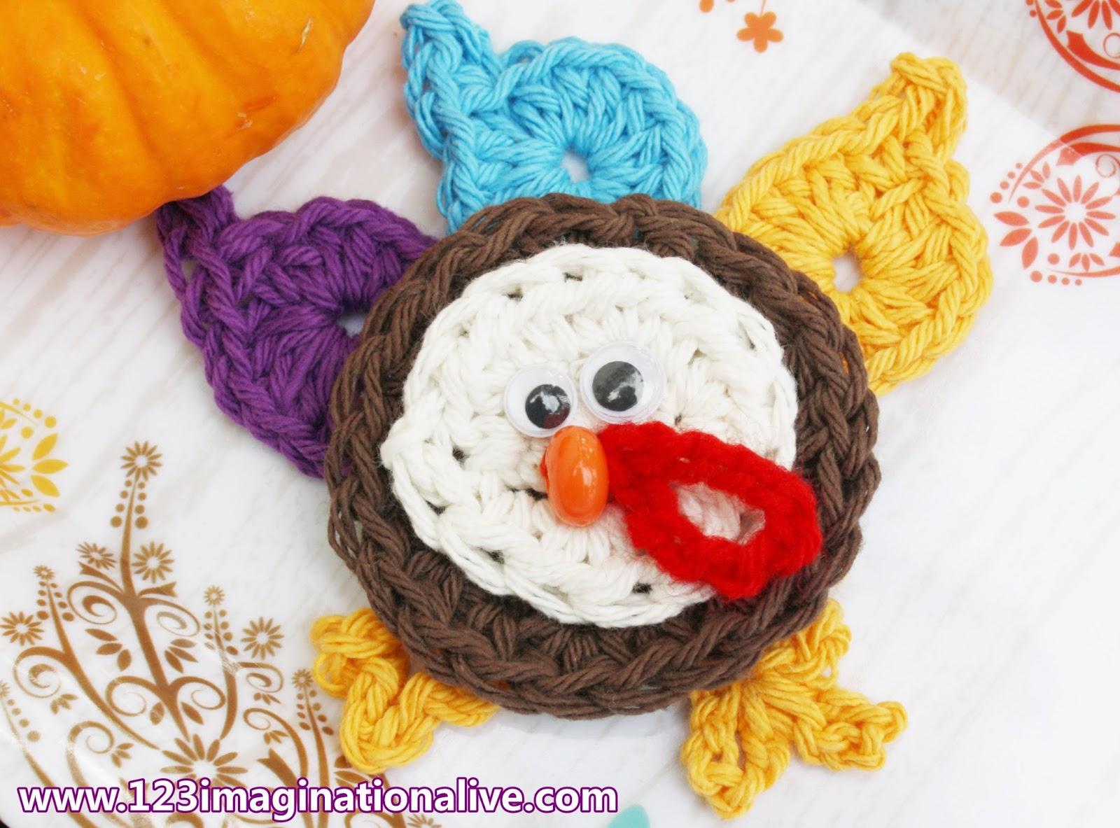 123imaginationalive How To Crochet A Turkey Applique