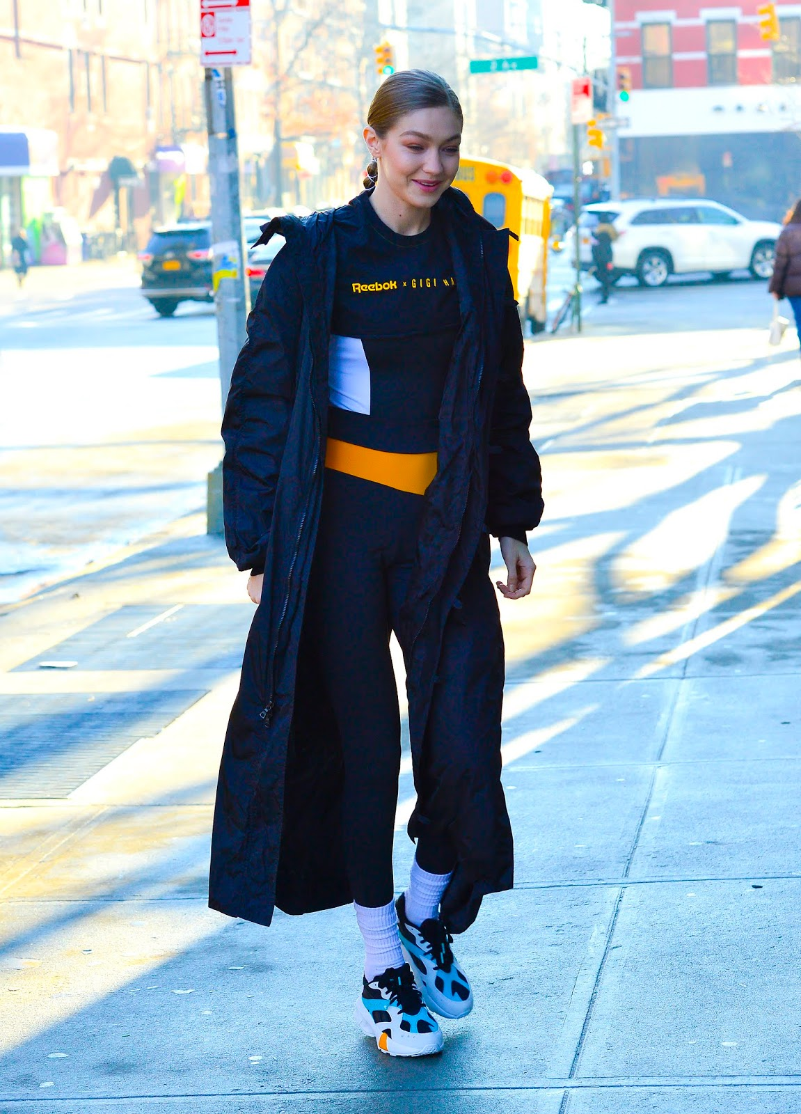 Gigi Hadid visiting a school in NYC - 02/04/2019