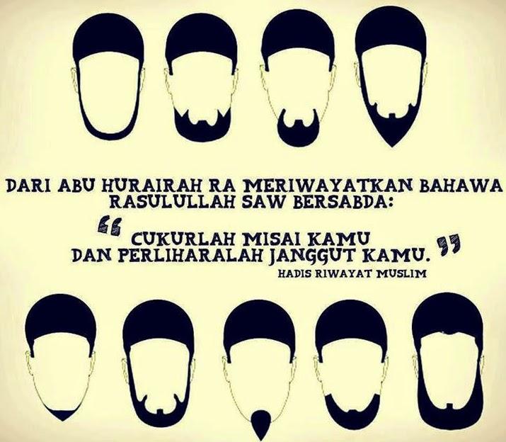 'Sunnah Menyimpan Janggut' Rasulullah SAW bersabda Cukurlah Misai kamu, dan Peliharalah Janggut kamu
