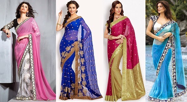 best match saree fabric for hourglass body shape