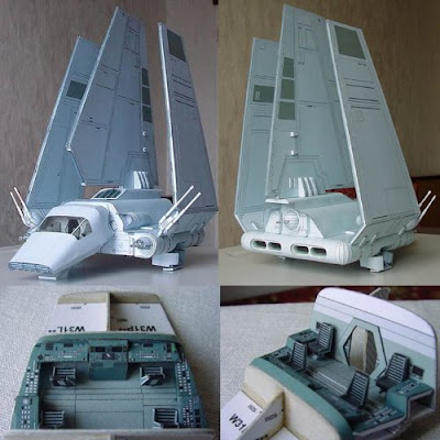 Star Wars Imperial Shuttle Tydirium Paper Model