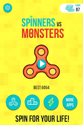Download Spinners vs. Monsters v1.0.3 Mod Apk Free Shopping Versi Terbaru