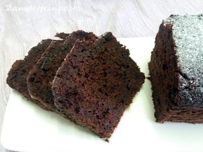 plumcake con cacao e barbabietola