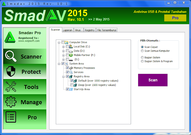Smadav 2015 Pro Rev 10.1 Full Key Share-Tuts