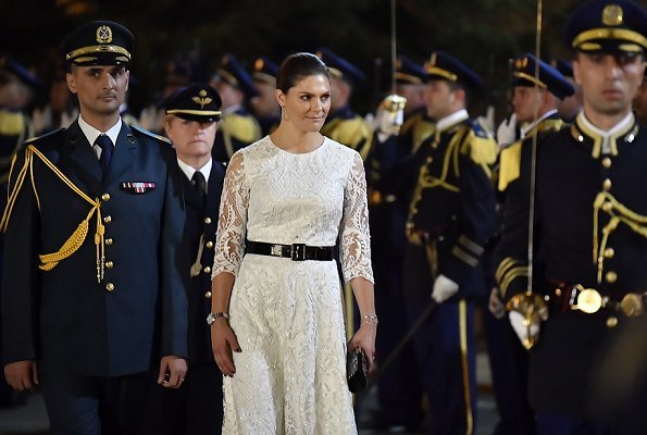 Crown Princess Victoria wore By Malina lace dress. Prime Minister Saad Hariri, at Grand Serail. Lebanese President Michel Aoun