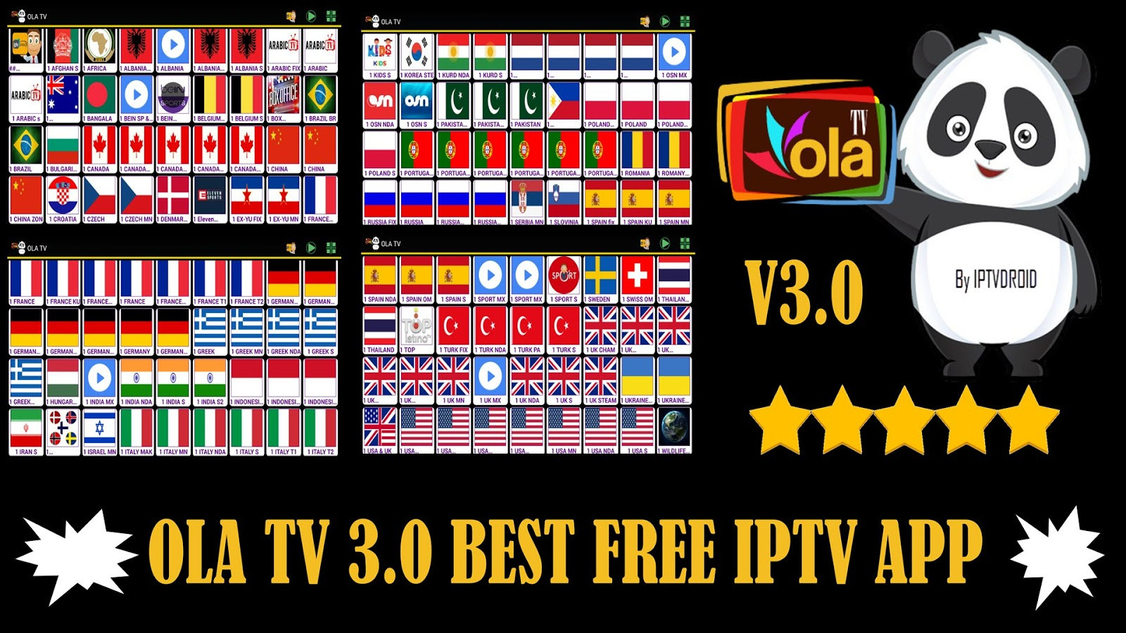 OLA TV V 3 0 BEST FREE IPTV & WATCH OVER 23000 CHANNELS ON