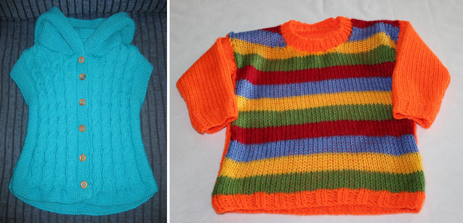 f7d0630d5 A la dcha. chaleco con capucha para niño a de 2 años ideal para que vayan  calentitos y a la moda. A la dcha. otra versión de jersey