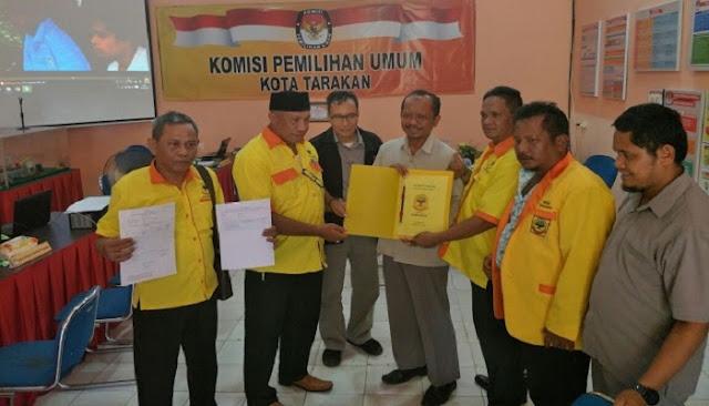DPD Partai Berkarya Tarakan Daftar di KPU