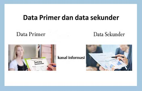 Data Primer dan Sekunder Untuk Penelitian