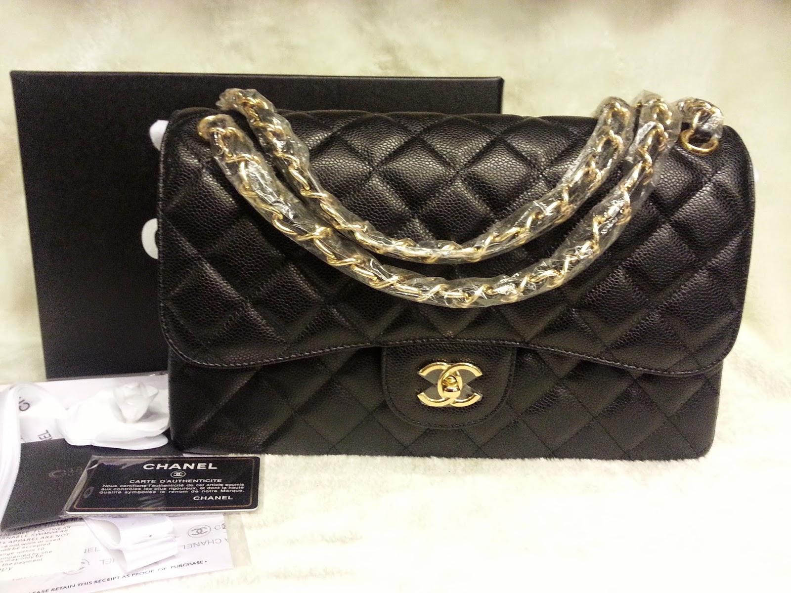 d40bb7cca0e4 Deal Treasure: Chanel Classic Jumbo Black Caviar Leather Double Flap ...