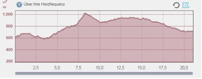 Langer Lauf auf dem Kamm Höhenmeter
