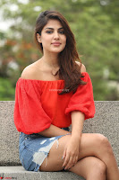 Rhea Chakraborty in Red Crop Top and Denim Shorts Spicy Pics ~  Exclusive 032.JPG