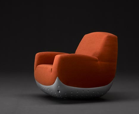 Modern Puffy Swing Chair by Domodinamica  Modern