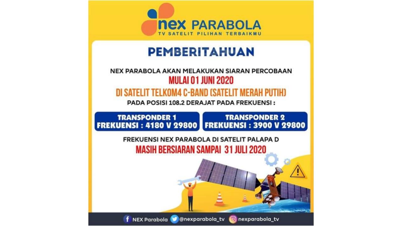 Frekuensi Nex Parabola Di Satelit Telkom 4