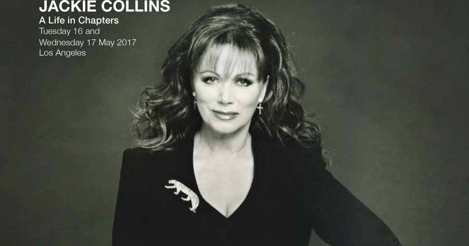 LEGENDARY DAME!: EVENT UPDATE : JACKIE COLLINS - A LIFE IN ...
