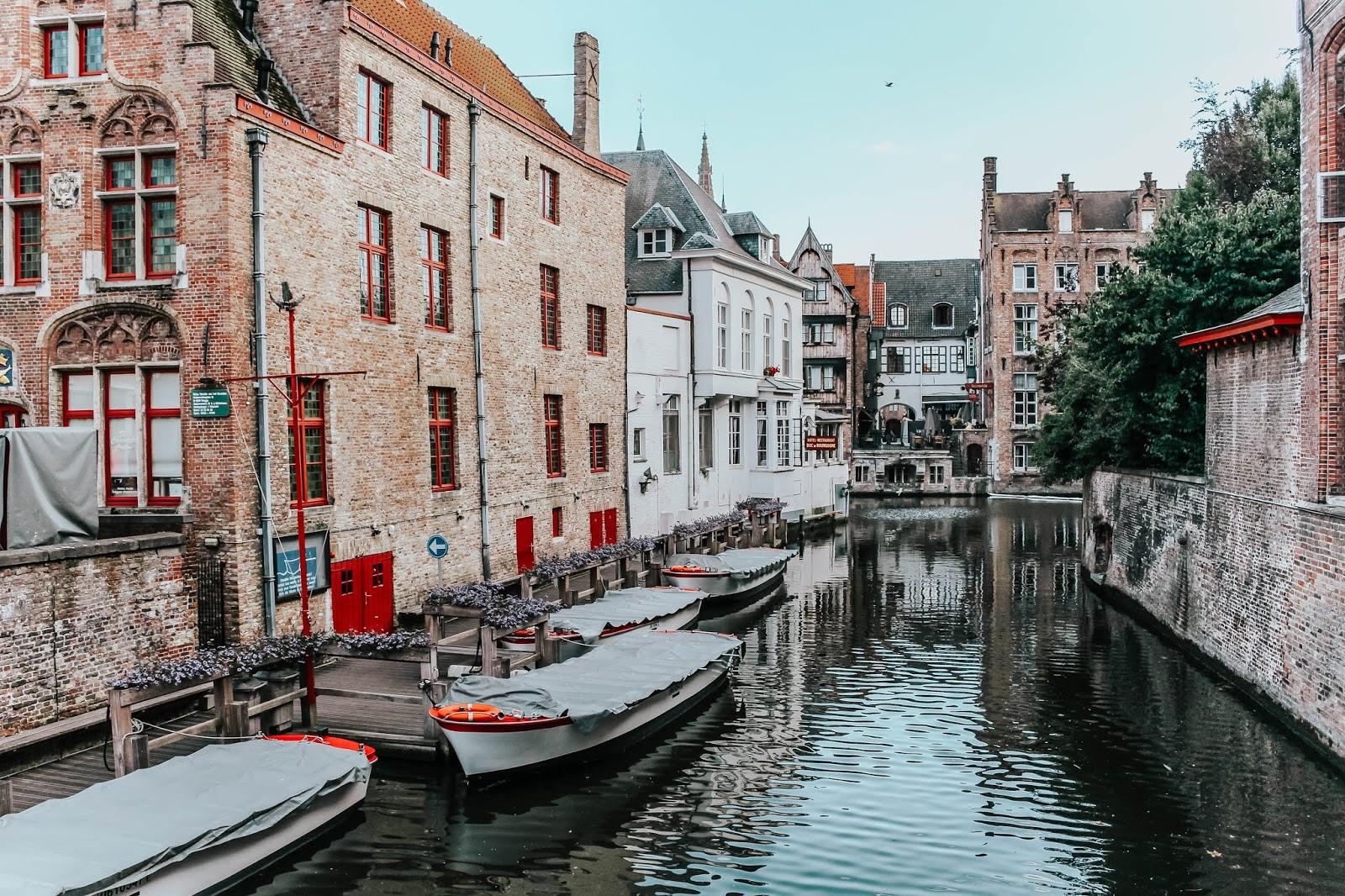 Brugge Belgium Canals in Summer 2018
