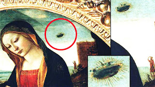 Real UFO in artwork by masters. Hidden symbols in artworks.