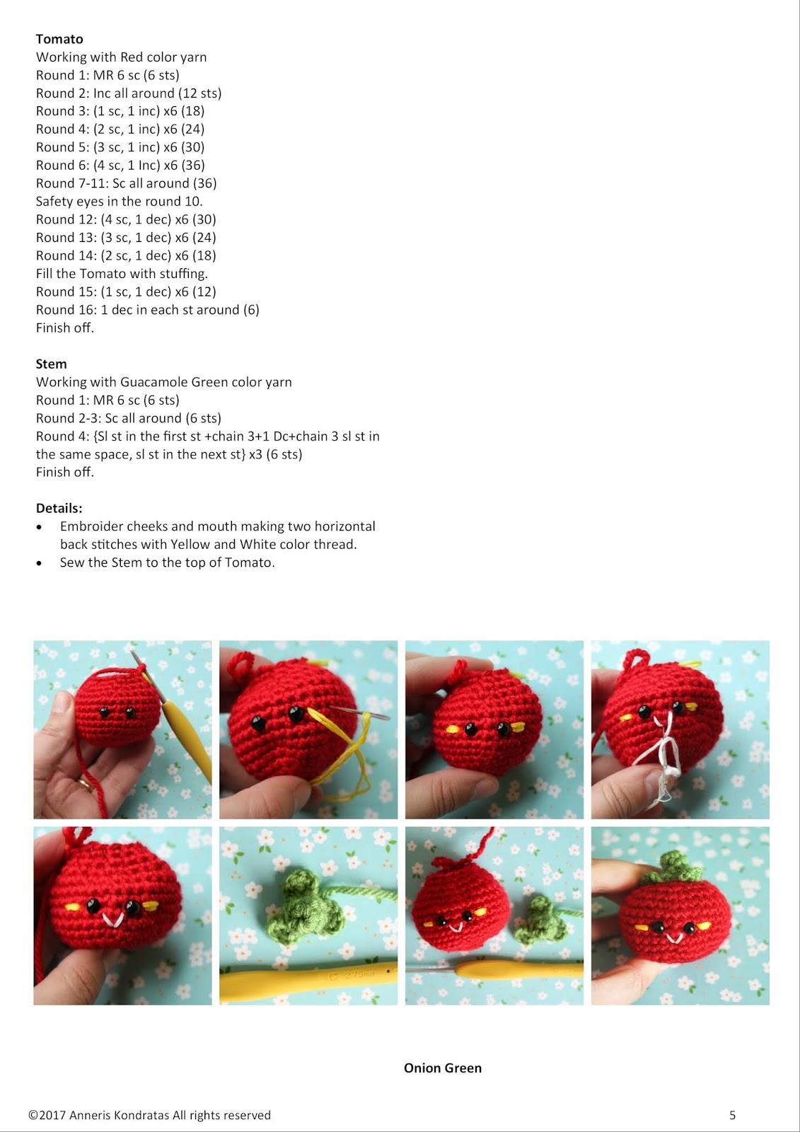 Amigurumi Food Hooray For Veggies Amigurumi Food Free Crochet