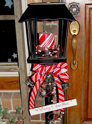 Christmas lamp post, christmas decor, repurposed