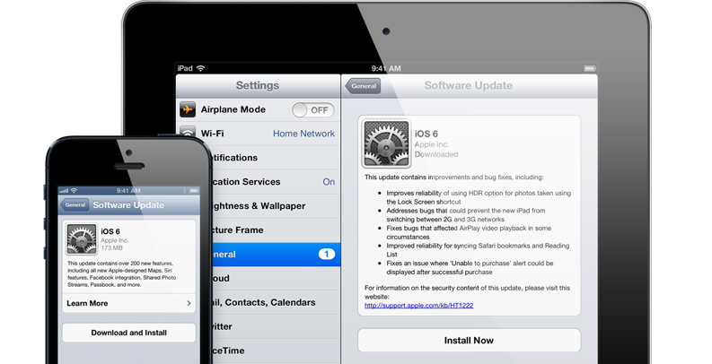 iOS 6 for iPhone, iPad & iPod touch