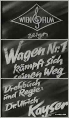 Wagen Nr. 1 kämpft sich seinen Weg. 1939.