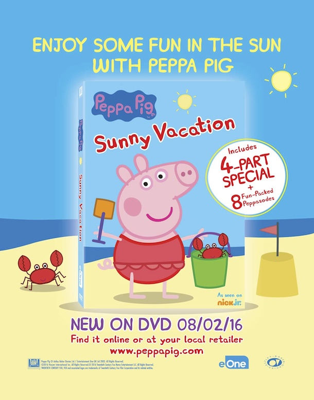 Once Upon a Twilight!: Enter to win #PeppaPig Sun, Sea, & Snow DVD