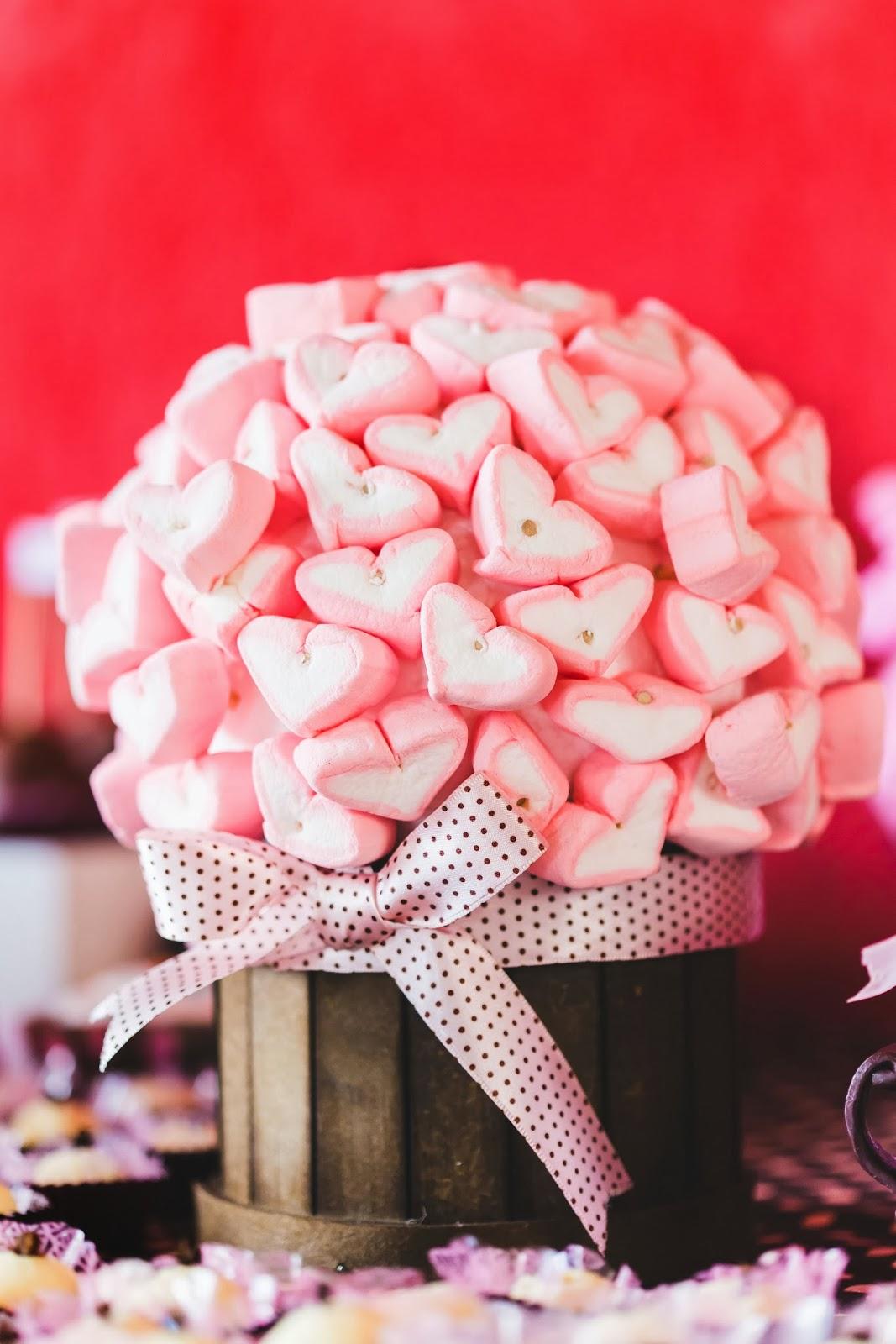 chá - chá de panela - chá rosa marrom - paleta rosa marrom - guloseimas - coracao - mesa doces