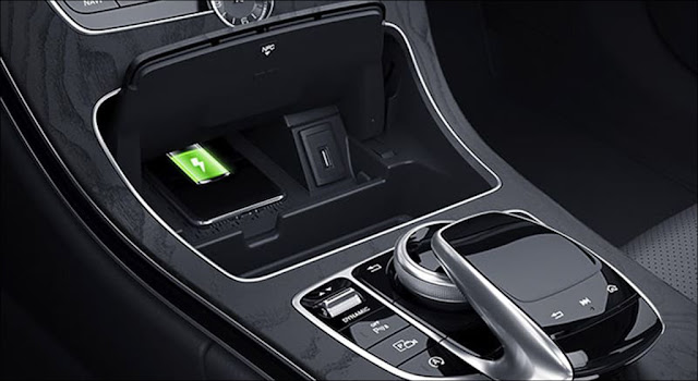 Sạc không dây cho điện thoại chuẩn Qi Mercedes C200 2019