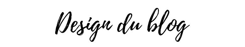 Design du blog