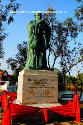 Confucius statue, Jurong Chinese Gardens, Singapore