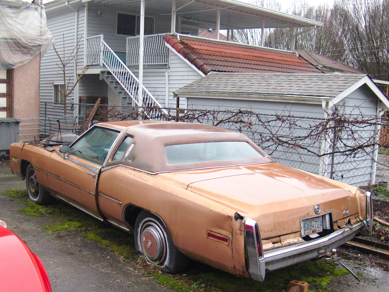 Old Parked Cars Vancouver 1976 Cadillac Eldorado Biarritz